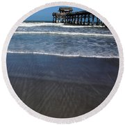 Lines In The Sand Round Beach Towel