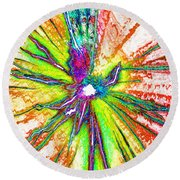Lines Of Color Round Beach Towel