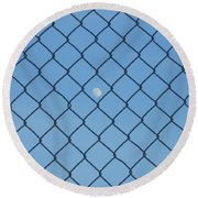 Link To The Moon Round Beach Towel