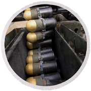 Linked 40mm Rounds Feed Into A Mark 19 Round Beach Towel