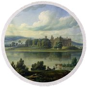 Linlithgow Palace Round Beach Towel
