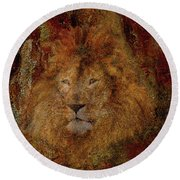 Lion Of Judah Round Beach Towel