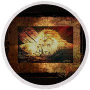 Lion Tapestry - Soulmates Round Beach Towel