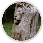 Lion Tree Round Beach Towel