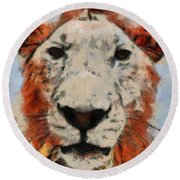 Lionart Round Beach Towel
