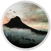 Lion's Head Cape Town Round Beach Towel