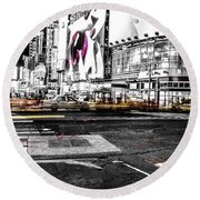 Lip Smack Nyc Round Beach Towel