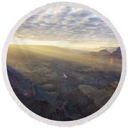 Lipon Point Sunset - Grand Canyon National Park - Arizona Round Beach Towel