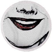 Liposuction Successful  Round Beach Towel by Sir Josef - Social Critic -  Maha Art