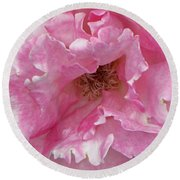 Lips Of A Rose Round Beach Towel