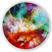 Liquid Colors - Enamel Edition Round Beach Towel