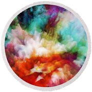 Liquid Colors - Original Round Beach Towel