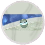 Liquid Drop Round Beach Towel