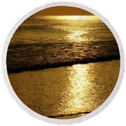 Liquid Gold Round Beach Towel