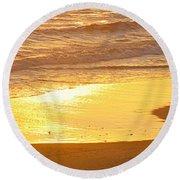 Liquid Sun Round Beach Towel
