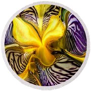 Liquified Orchid Round Beach Towel