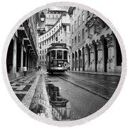 Lisbon Round Beach Towel