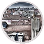 Lisbon Rooftops I Round Beach Towel
