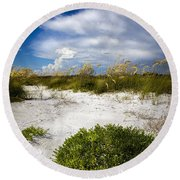 Listen To The Silence Round Beach Towel