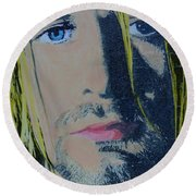 Literally Kurt Cobain Round Beach Towel