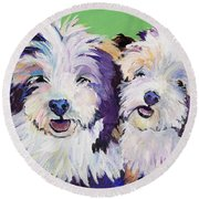 Litter Mates Round Beach Towel