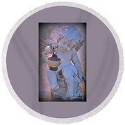 Little Angels Light The Way Round Beach Towel by John Malone