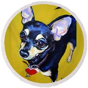 Little Bitty Chihuahua Round Beach Towel
