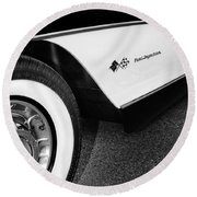 Little Black Corvette Palm Springs Round Beach Towel