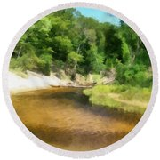 Little Black Creek - Hoffmaster State Park Round Beach Towel