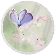 Little Blue Round Beach Towel