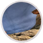 Little Brother Round Beach Towel