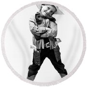 Little Buckaroo Round Beach Towel
