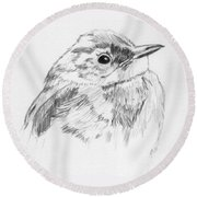 Little Buddy Round Beach Towel