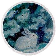 Little Bunny Foo Foo Round Beach Towel