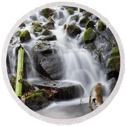 Little Cascade In Marlay Park Dublin Round Beach Towel