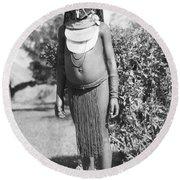 Little Chimbu Girl Papua New Guinea Round Beach Towel
