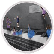 Little Composers I Round Beach Towel by Betsy Knapp