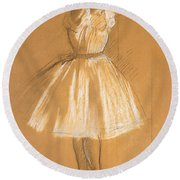 Little Dancer Round Beach Towel by Edgar Degas