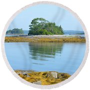 Little French Island In Maine Round Beach Towel