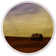 Little House On The Prairie  Round Beach Towel by Jeff Swan