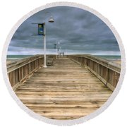 Little Island Pier Round Beach Towel