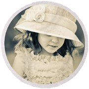 Little Lady Round Beach Towel
