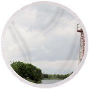 Little Lighthouse Round Beach Towel