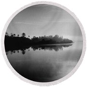 Little Manatee River Number 2 Round Beach Towel