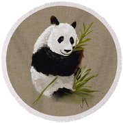 Little Panda Round Beach Towel