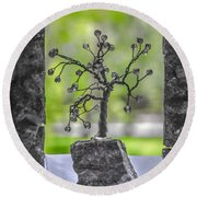 Little Pearl Tree II Round Beach Towel