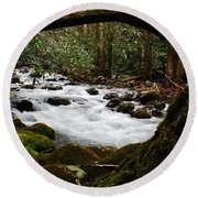 Little Pigeon River In The Smokies Round Beach Towel