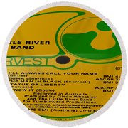 Little River Band Side 2 Round Beach Towel