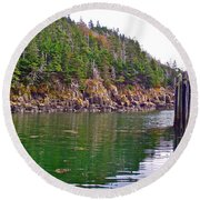 Little River In Digby Neck-ns Round Beach Towel