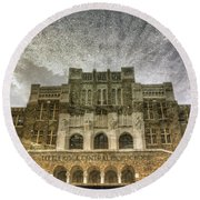 Little Rock Central High Reflecting Upon The Past Round Beach Towel by Jason Politte